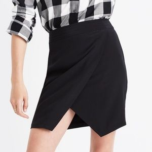 Madewell Silk Parkway Faux Wrap Skirt